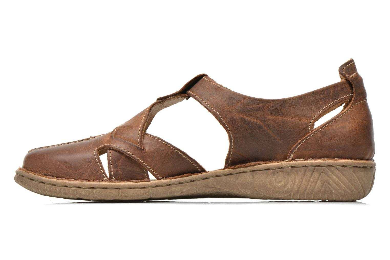 Sandales et nu-pieds Josef Seibel Francesca 09 Marron vue face