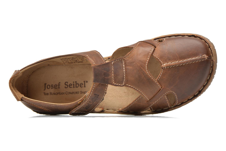 Sandales et nu-pieds Josef Seibel Francesca 09 Marron vue gauche