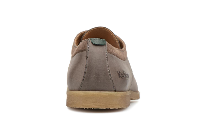 Chaussures à lacets Kickers FLAVESTON Gris vue droite
