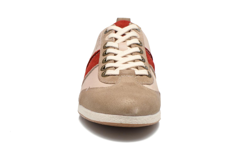 Baskets Kickers BARBOSSA Beige vue portées chaussures
