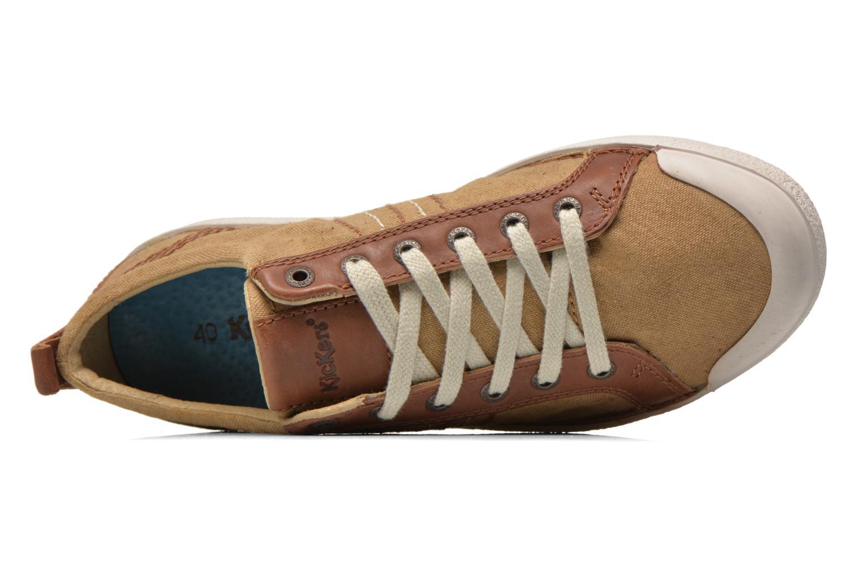 Sneaker Kickers TRIDENT beige ansicht von links