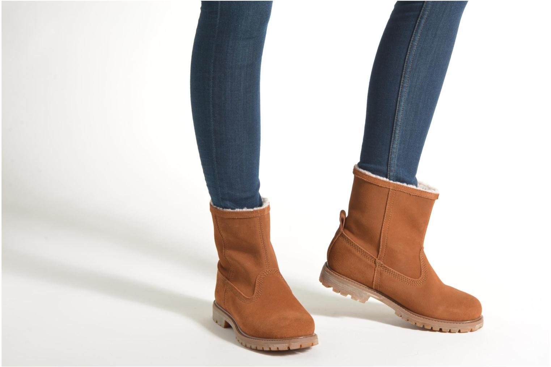 Bottines et boots Timberland Authentics Warm Line Marron vue bas / vue portée sac