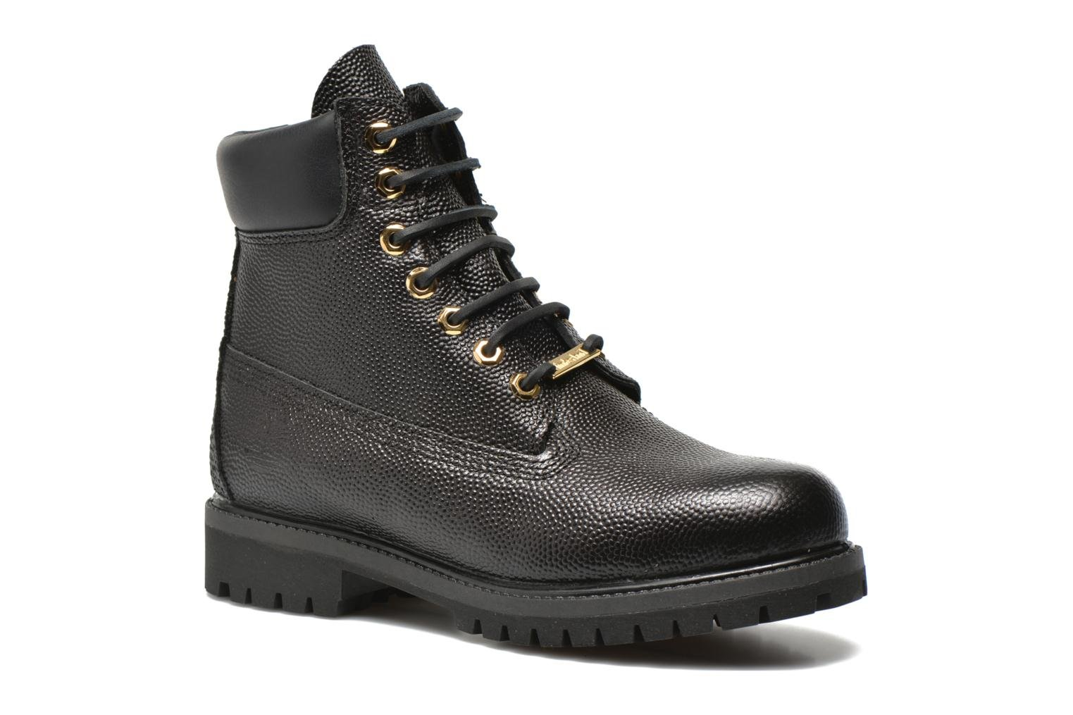 "Icon 6"" Premium Boot Black Horween Football Leather"