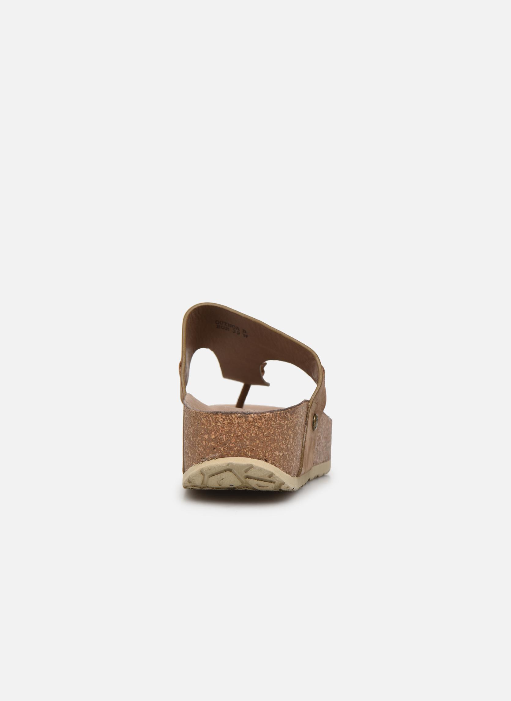 Mules et sabots Panama Jack Quinoa Marron vue droite