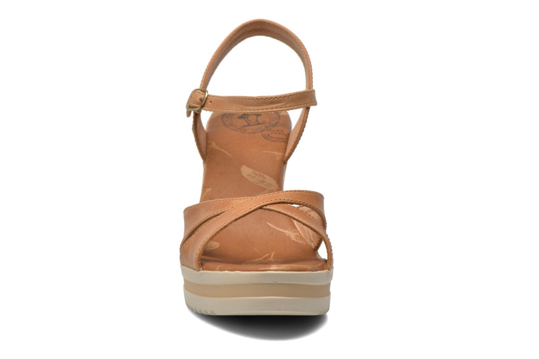 Sandalen Panama Jack Estrella braun schuhe getragen