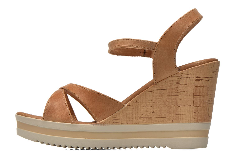 Sandals Panama Jack Estrella Brown front view