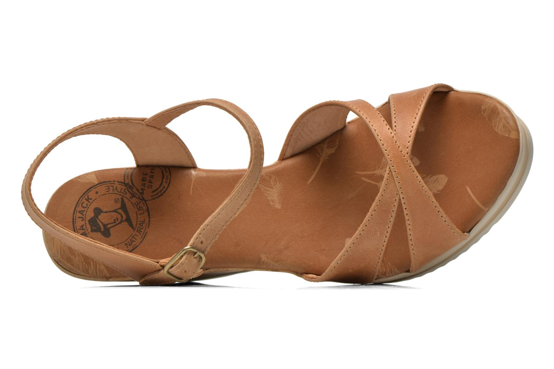 Sandalen Panama Jack Estrella braun ansicht von links