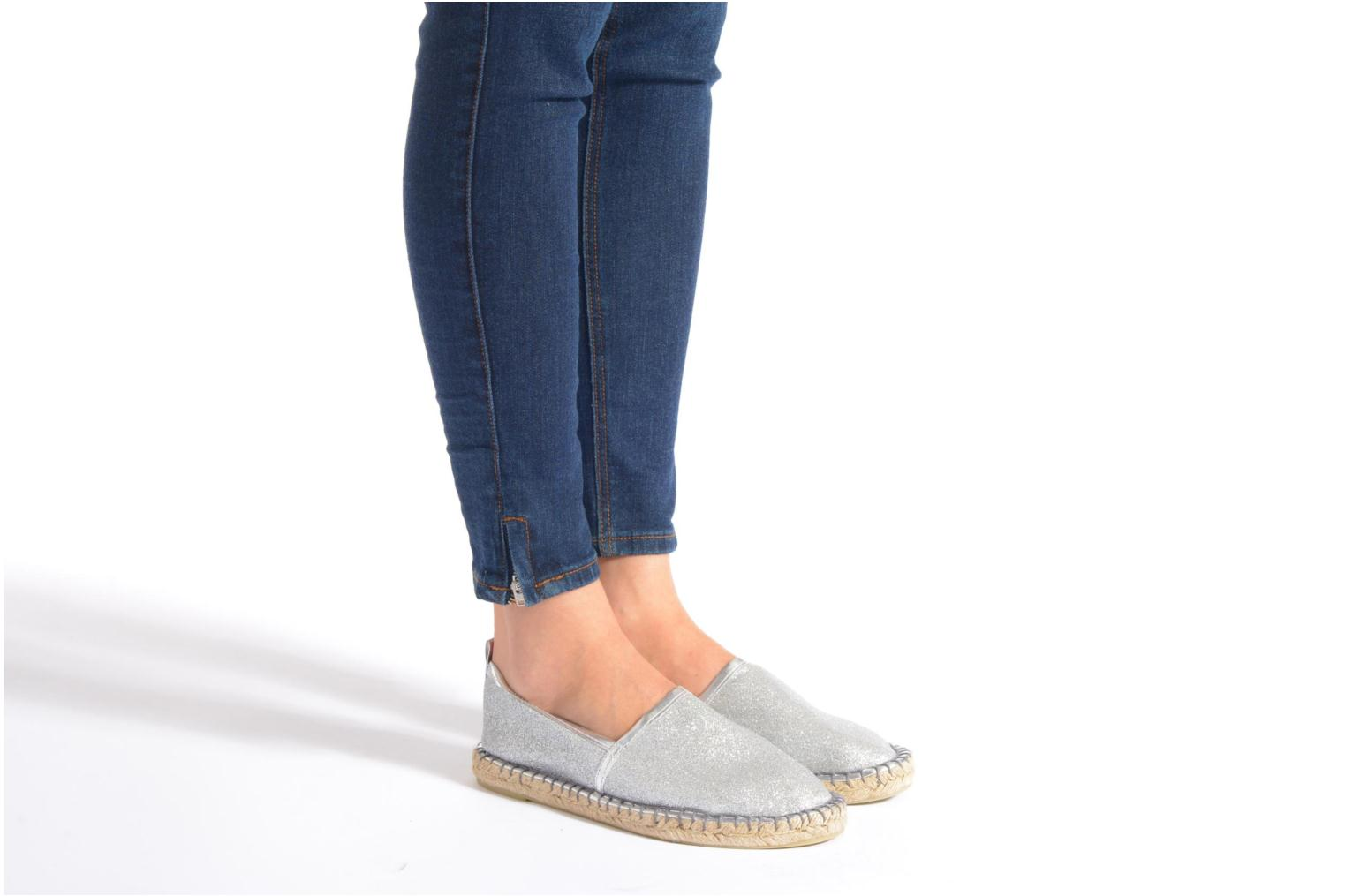 Espadrilles Colors of California Lili Silver view from underneath / model view