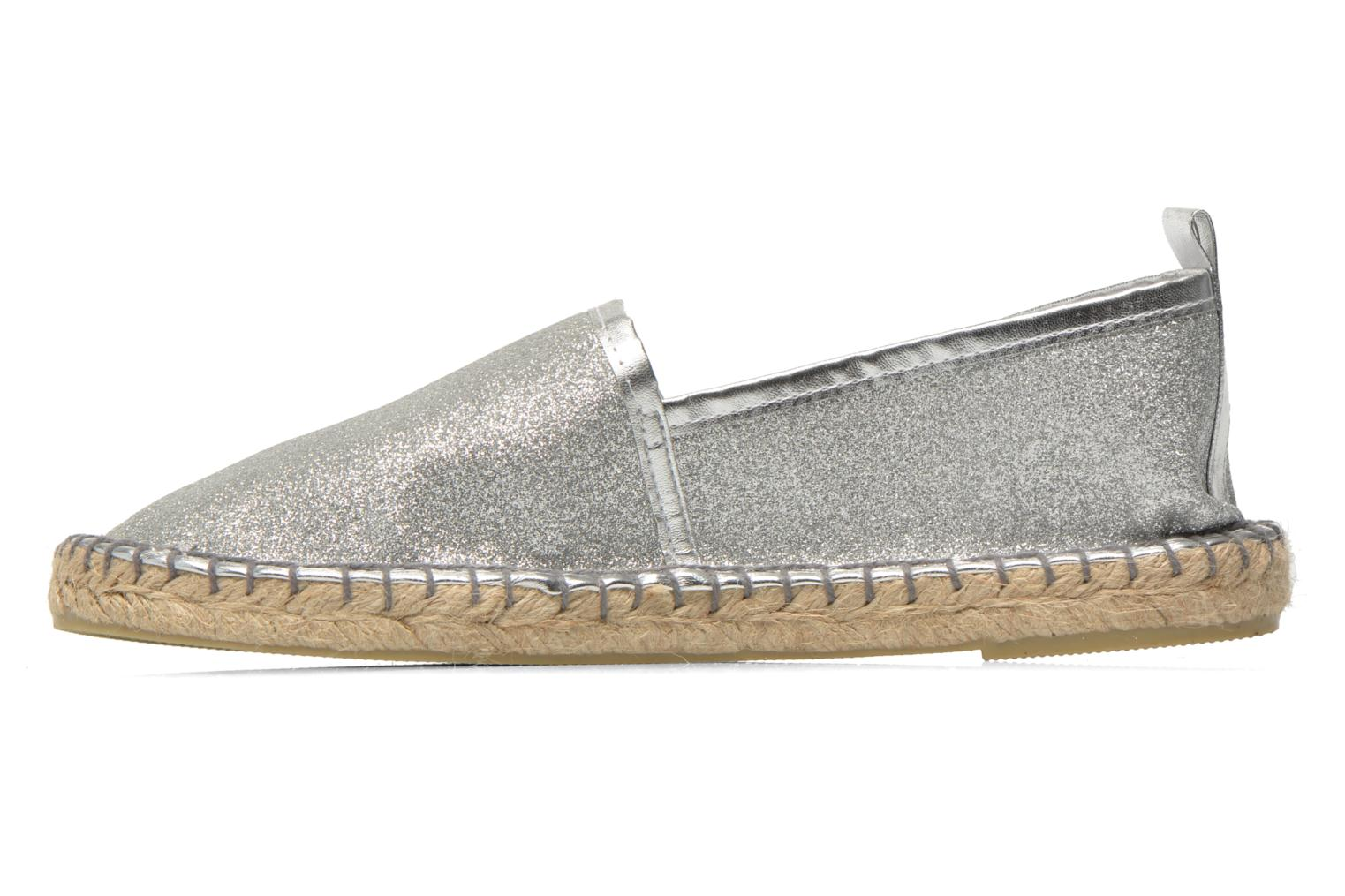 Espadrilles Colors of California Lili Silver front view