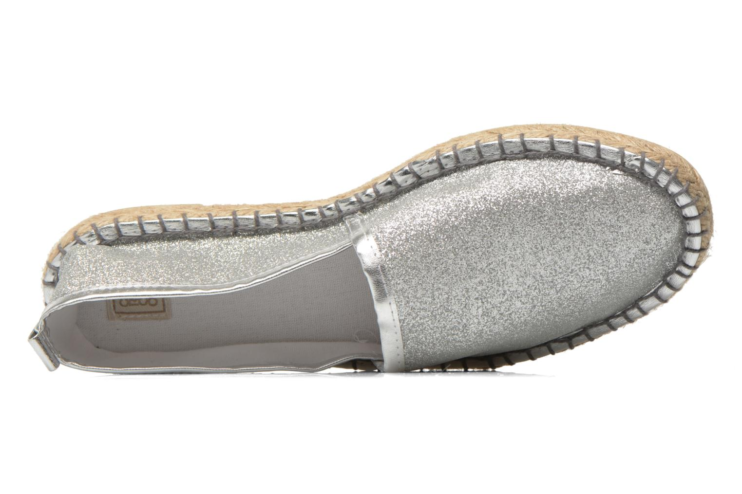 Espadrilles Colors of California Lili Silver view from the left