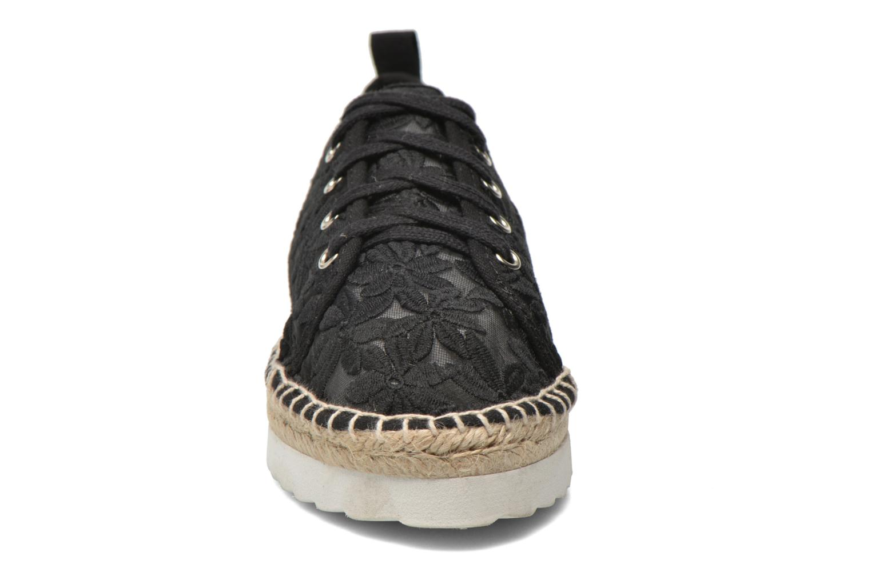 Espadrilles Colors of California Poshpadrille lacet Noir vue portées chaussures