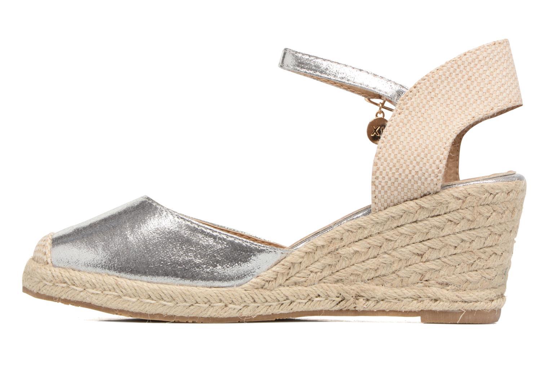 Sandales et nu-pieds Xti Brownie 45061 Argent vue face