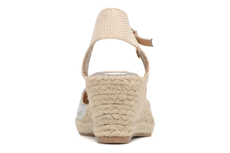 Sandales et nu-pieds Xti Brownie 45061 Argent vue droite