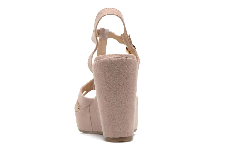 Sandales et nu-pieds Xti Playa 45051 Beige vue droite