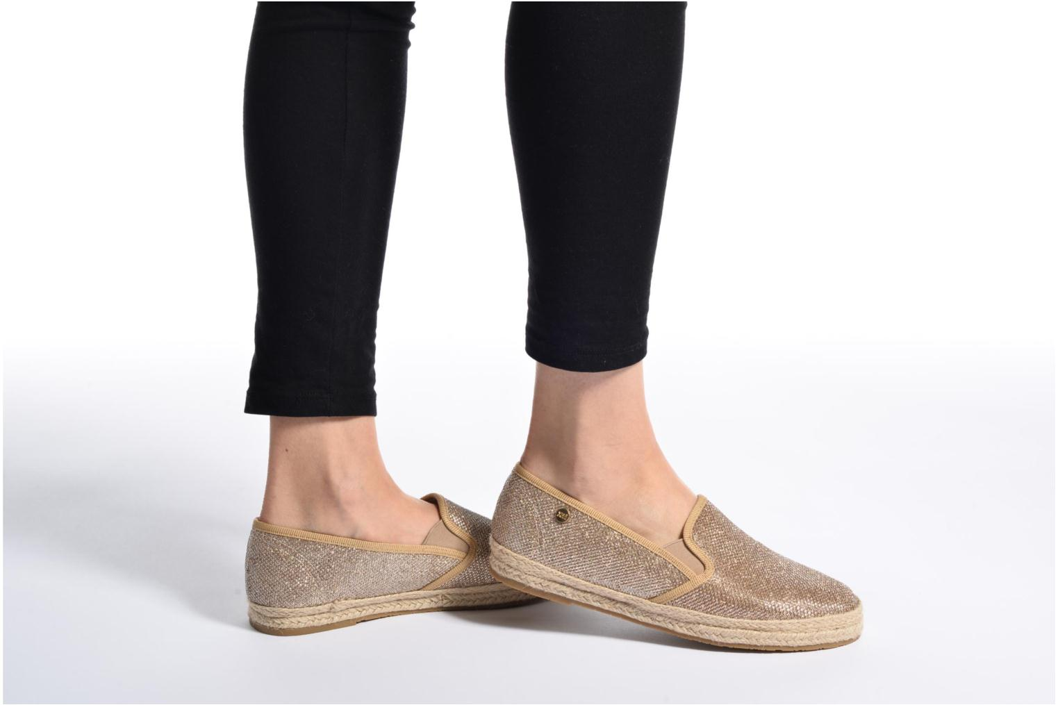 Espadrilles Xti Arianne 45215 Bronze and Gold view from underneath / model view