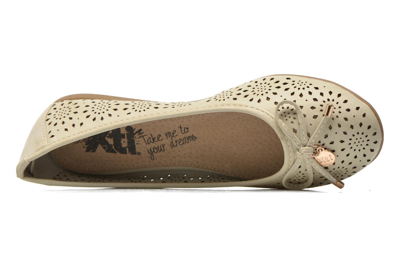 Ballerinas Xti Lila 45038 beige ansicht von links