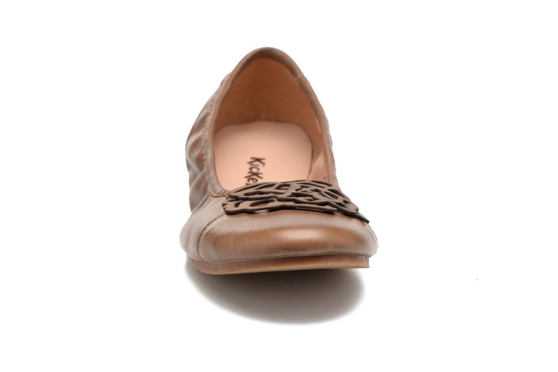 Ballerinas Kickers Liber braun schuhe getragen