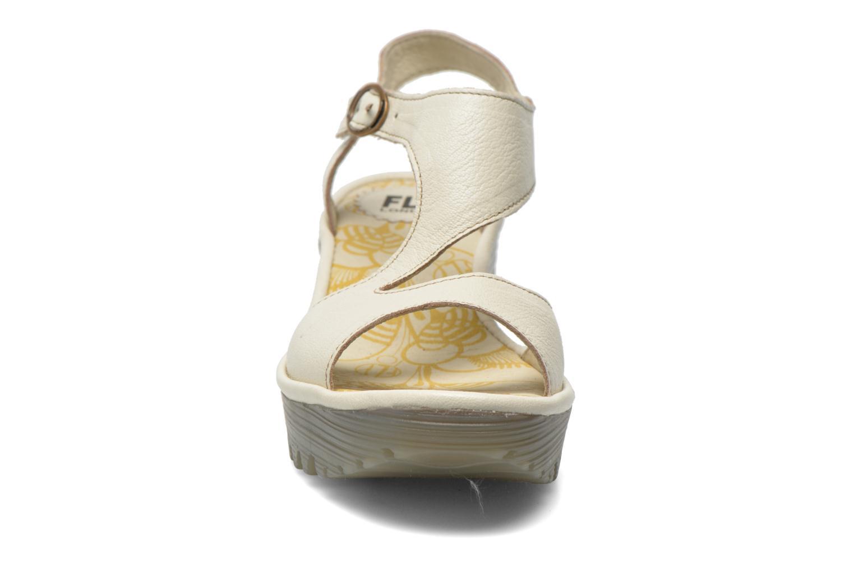 Sandals Fly London Yanca White model view