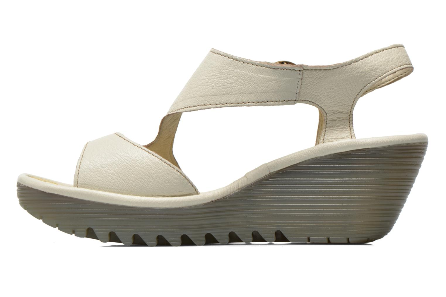 Sandals Fly London Yanca White front view