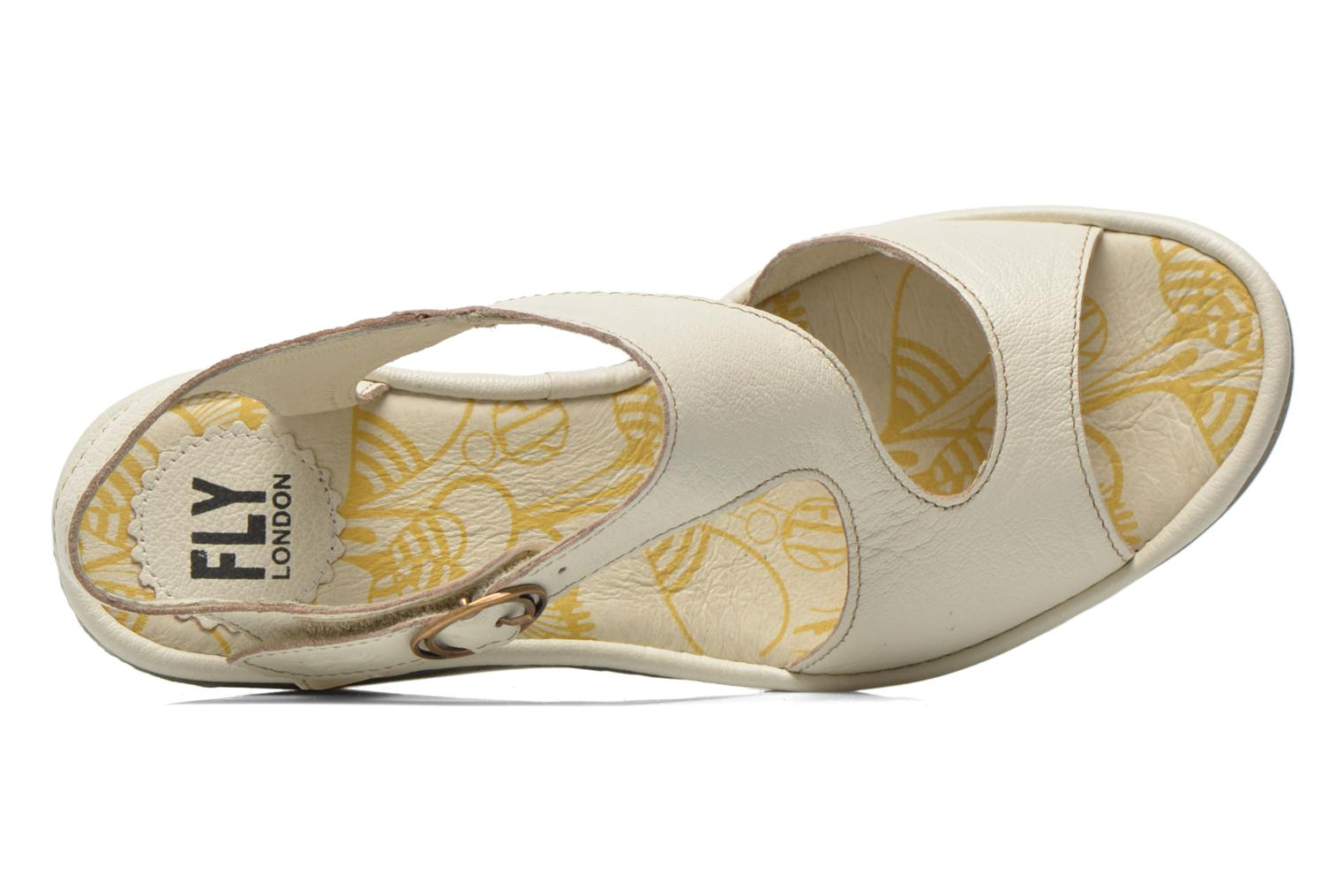 Sandalias Fly London Yanca Blanco vista lateral izquierda