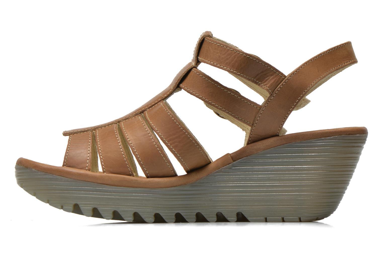 Sandales et nu-pieds Fly London Ygor Marron vue face