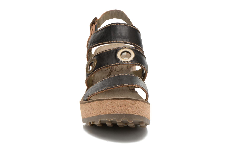 Sandales et nu-pieds Fly London Guse Noir vue portées chaussures