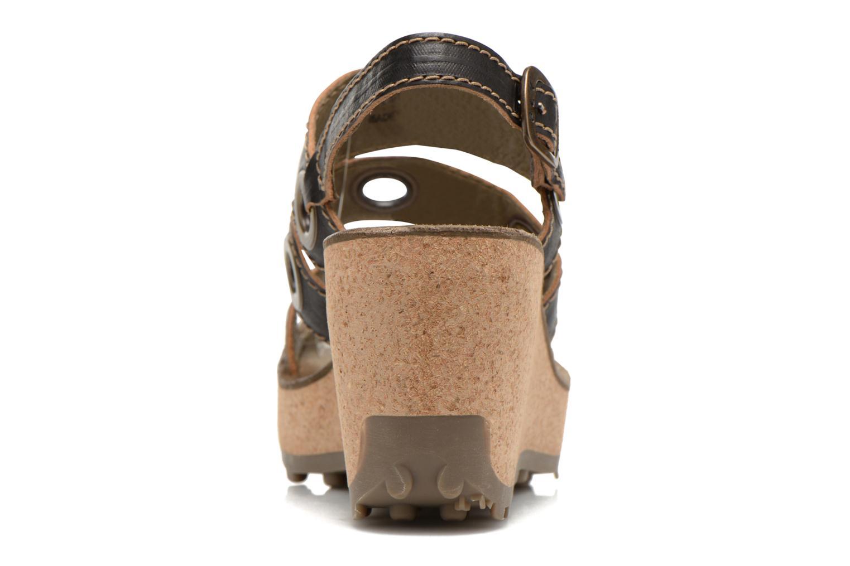 Sandales et nu-pieds Fly London Guse Noir vue droite