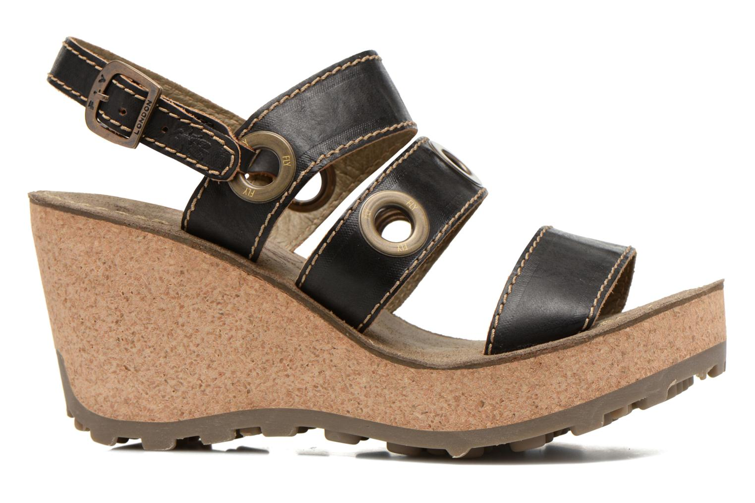 Sandals Fly London Guse Black back view