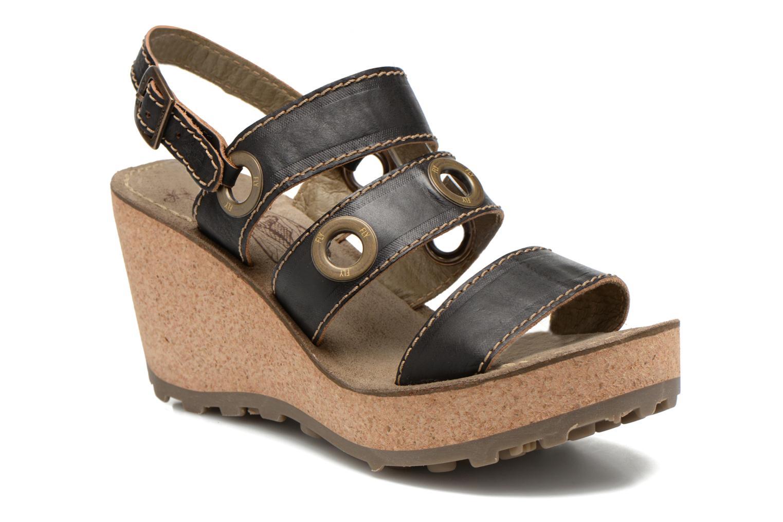 Sandales et nu-pieds Fly London Guse Noir vue détail/paire