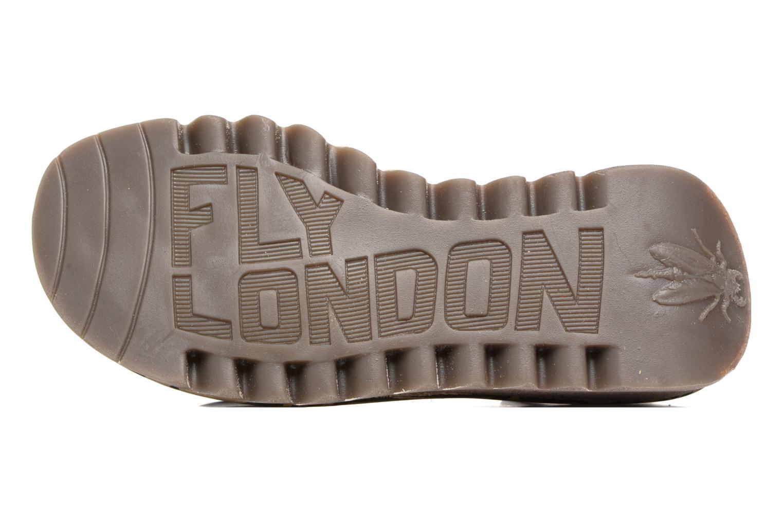 Sandales et nu-pieds Fly London Tram 723 Rouge vue haut