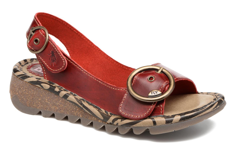 Sandales et nu-pieds Fly London Tram 723 Rouge vue détail/paire