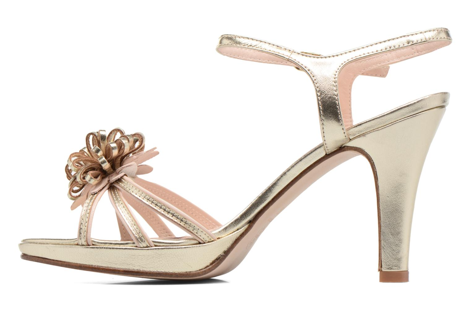 Sandals Anna Volodia Flora 3 Bronze and Gold front view
