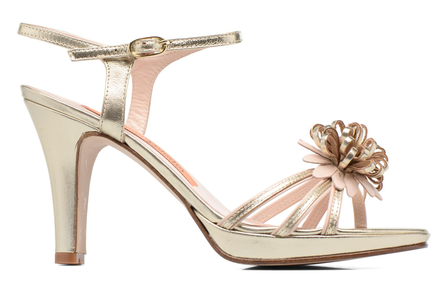 Sandals Anna Volodia Flora 3 Bronze and Gold back view