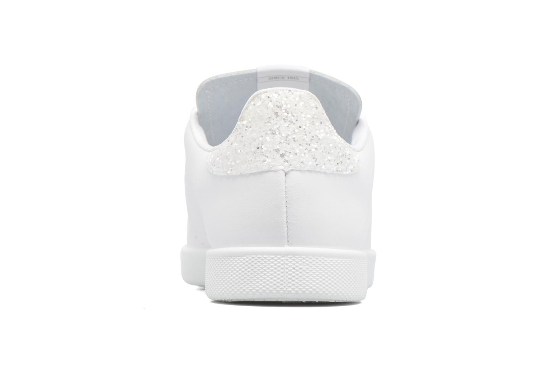 Deportivo Basket Piel blanco/glitter