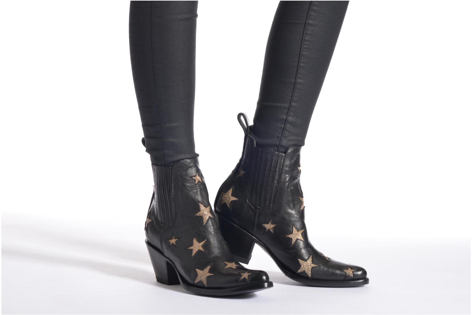 Ankle boots Mexicana Circus Black view from underneath / model view