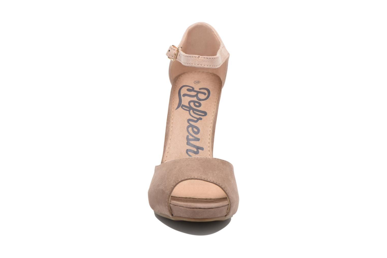 Sandales et nu-pieds Refresh Lena Marron vue portées chaussures