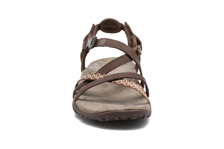 Chaussures de sport Merrell Terran Lattice II Marron vue portées chaussures