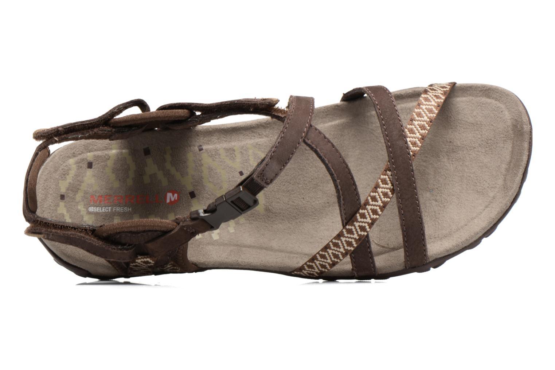 Chaussures de sport Merrell Terran Lattice II Marron vue gauche