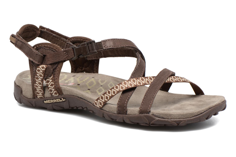 Chaussures de sport Merrell Terran Lattice II Marron vue détail/paire