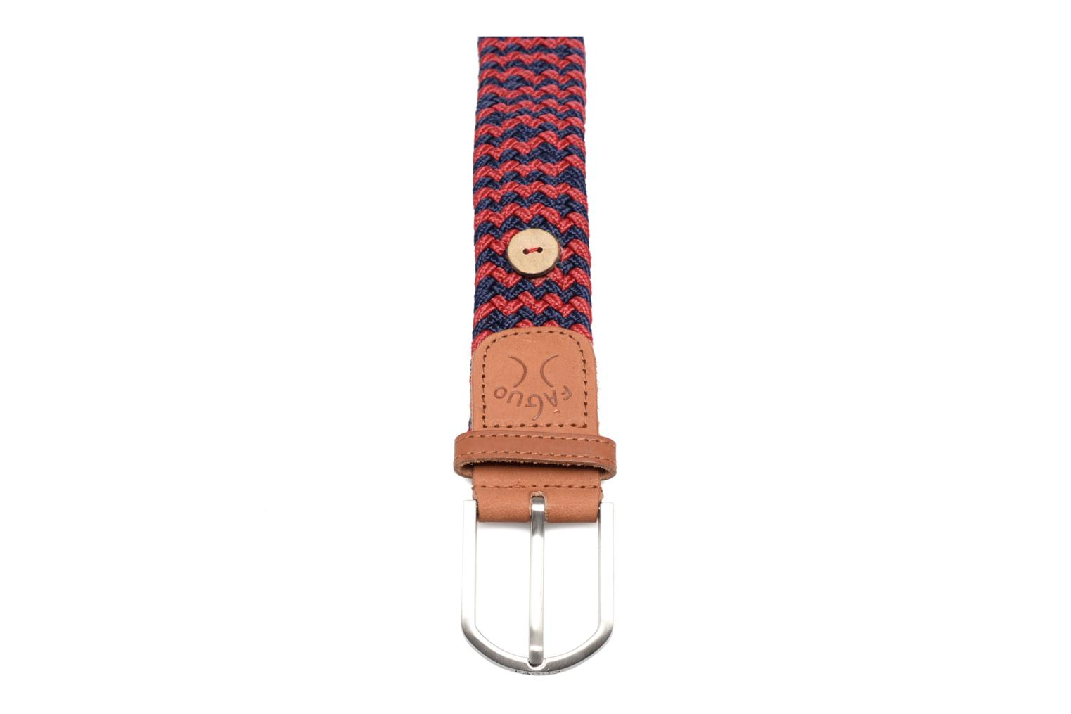 Belts Faguo Ceinture tressée bicolore Red front view