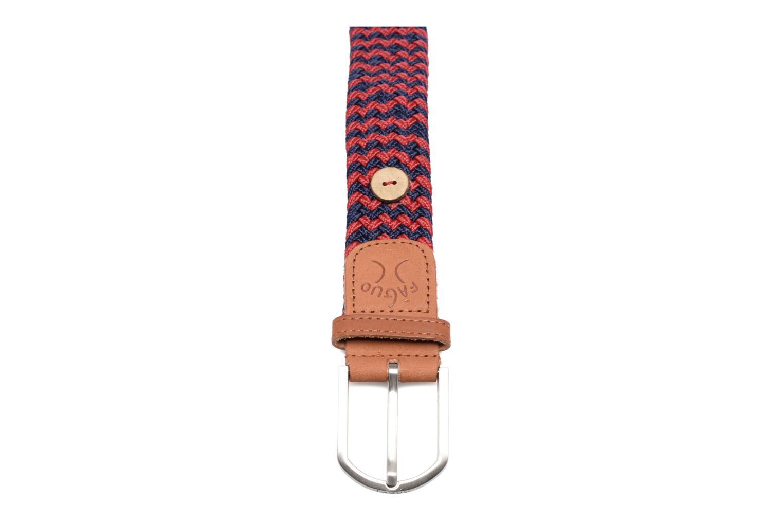 Cinturones Faguo Ceinture tressée bicolore Rojo vista de frente