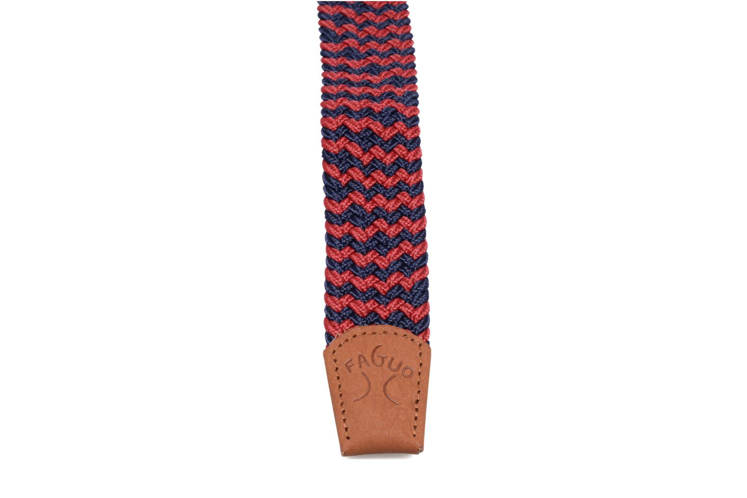 Belts Faguo Ceinture tressée bicolore Red view from the right