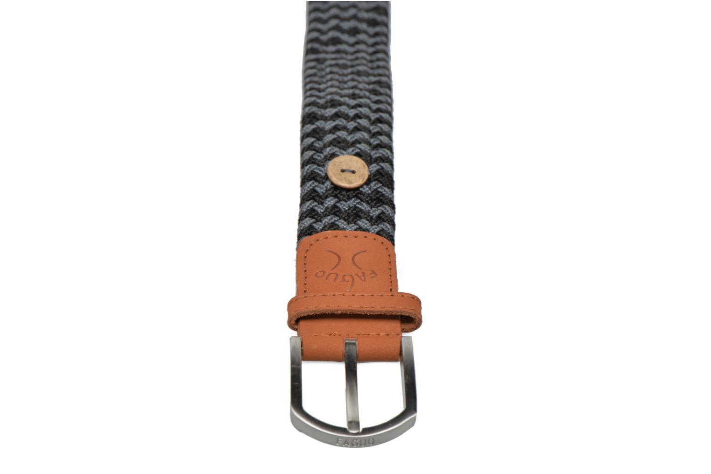 Belts Faguo Ceinture tressée bicolore Grey front view
