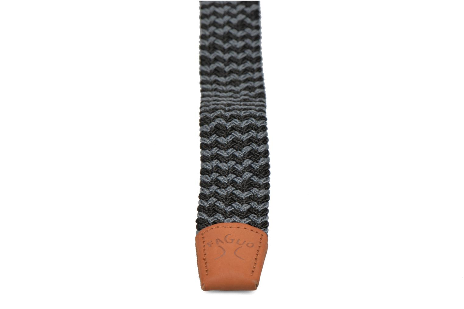 Belts Faguo Ceinture tressée bicolore Grey view from the right