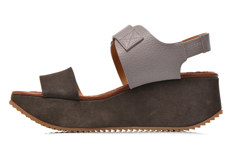 Sandales et nu-pieds Chie Mihara Devagar Gris vue face