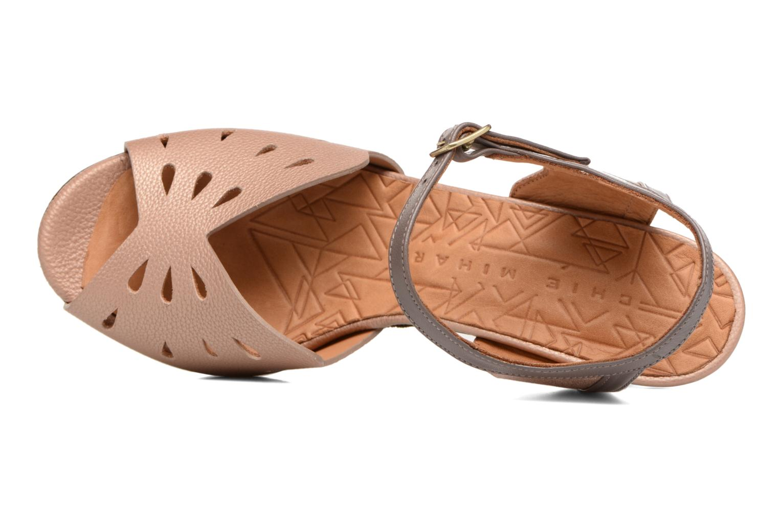 Sandals Chie Mihara Loha Brown view from the left