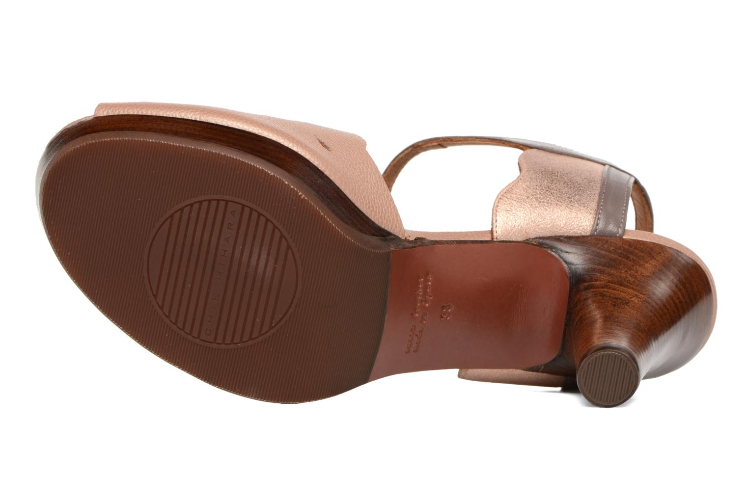 Sandals Chie Mihara Loha Brown view from above