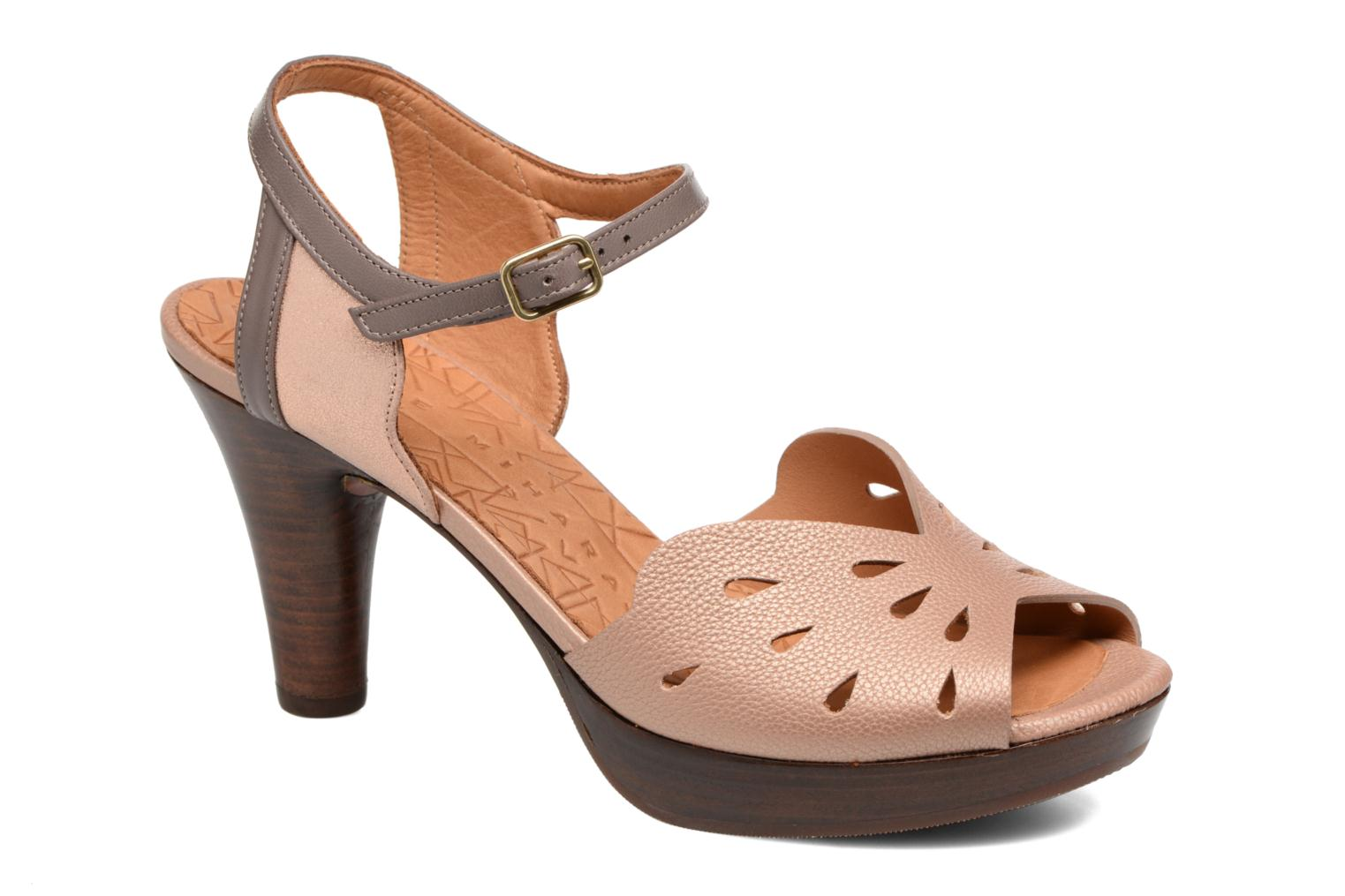Sandals Chie Mihara Loha Brown detailed view/ Pair view