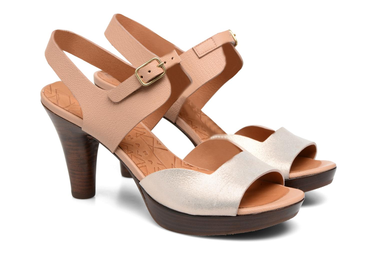 Sandals Chie Mihara Loteria Brown 3/4 view