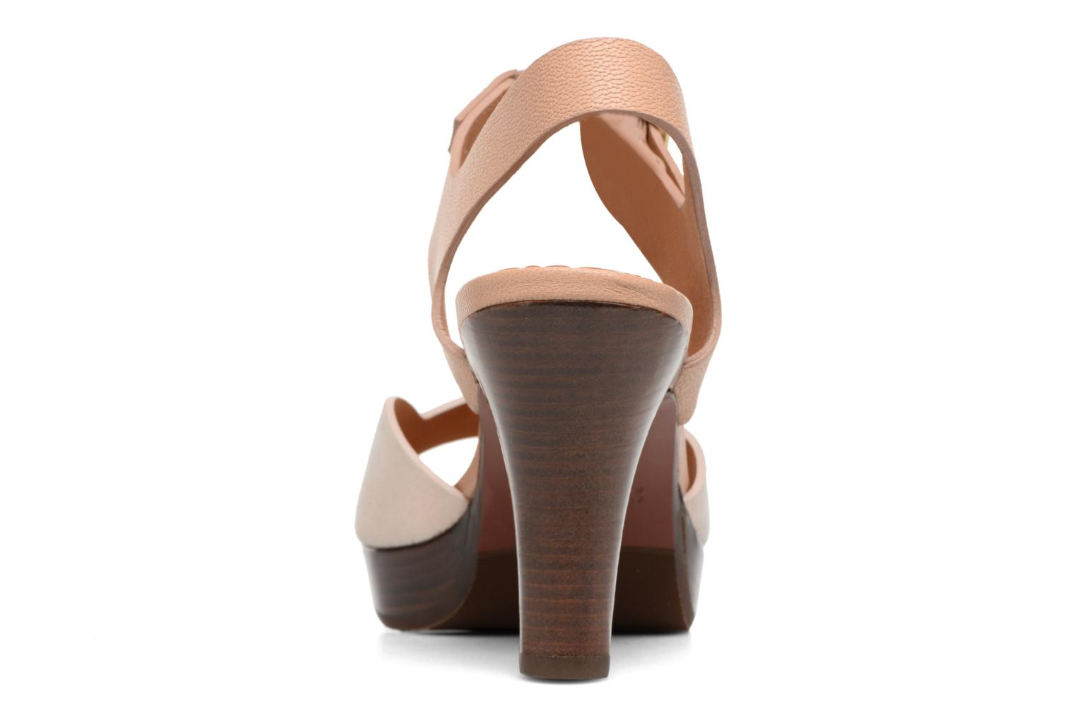 Sandals Chie Mihara Loteria Brown view from the right